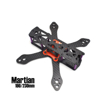 Martian 230MM 4-Axis 3mm arms Carbon Fiber For RC FPV Racing Drones Quadcopter Frame kit with Power Distribution Board +