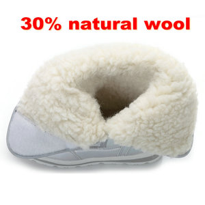Image 5 - 2020 New Winter fashion women boots mixed natural wool female warm boots waterproof thick fur full size silver lady snow boots