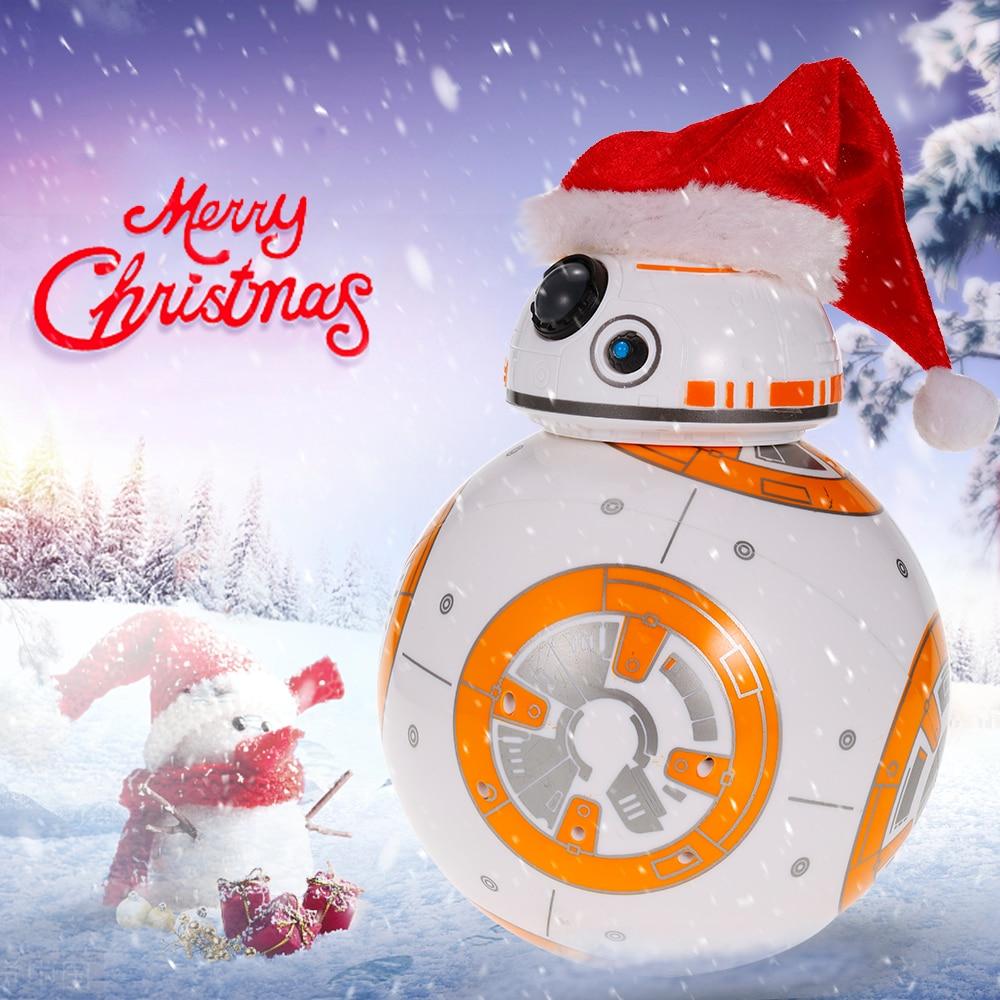 Mise à niveau Étoiles BB-8 Robot Wars 2.4g télécommande BB8 robot Action Figure Robot Intelligent Jouets À Billes Pour Les Enfants