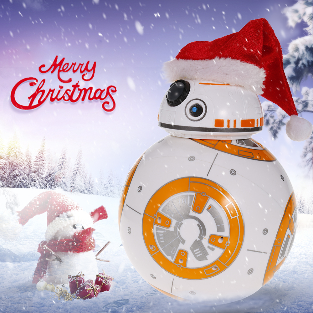 Upgrade Star BB 8 Robot Wars 2.4G remote control BB8 robot Action Figure Robot Intelligent Ball Toys For Children
