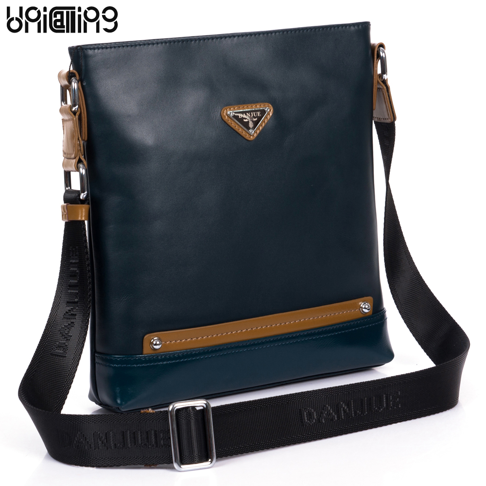 UniCalling leather men shoulder bag fashion leisure men leather bag outdoors genuine leather men bag messenger bag for men unicalling denim