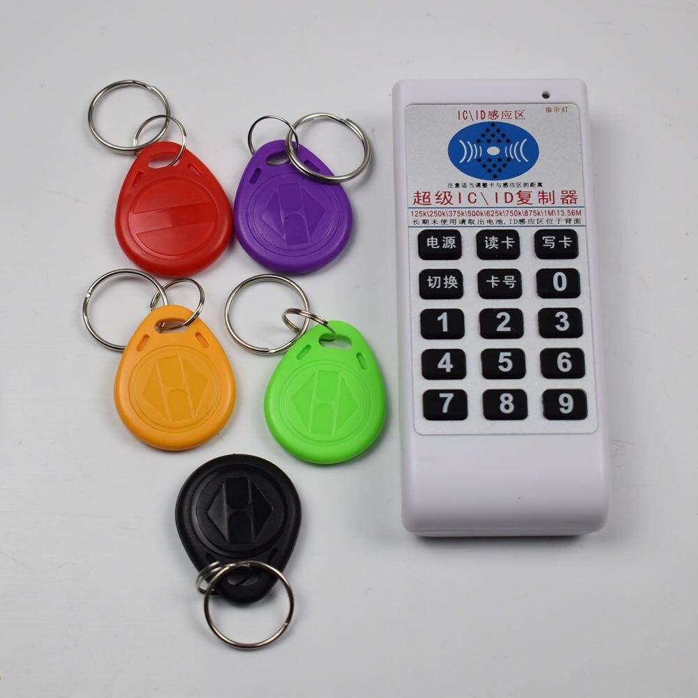 NFC RFID IC ID Copie Cloner 13.56 Mhz 125 khz Lecteur Écrivain Soutien 9 Fréquence + 5 pcs 125 KHz em4305 Reritable tags