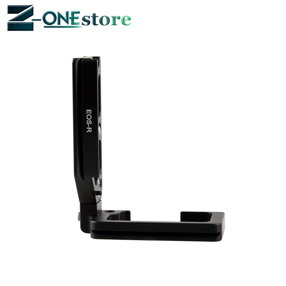 Support de Type L poignée de poignée de plaque de trépied à dégagement rapide Vertical pour Canon EOS R EOSR caméra trépied tête sphérique en forme de L - 4
