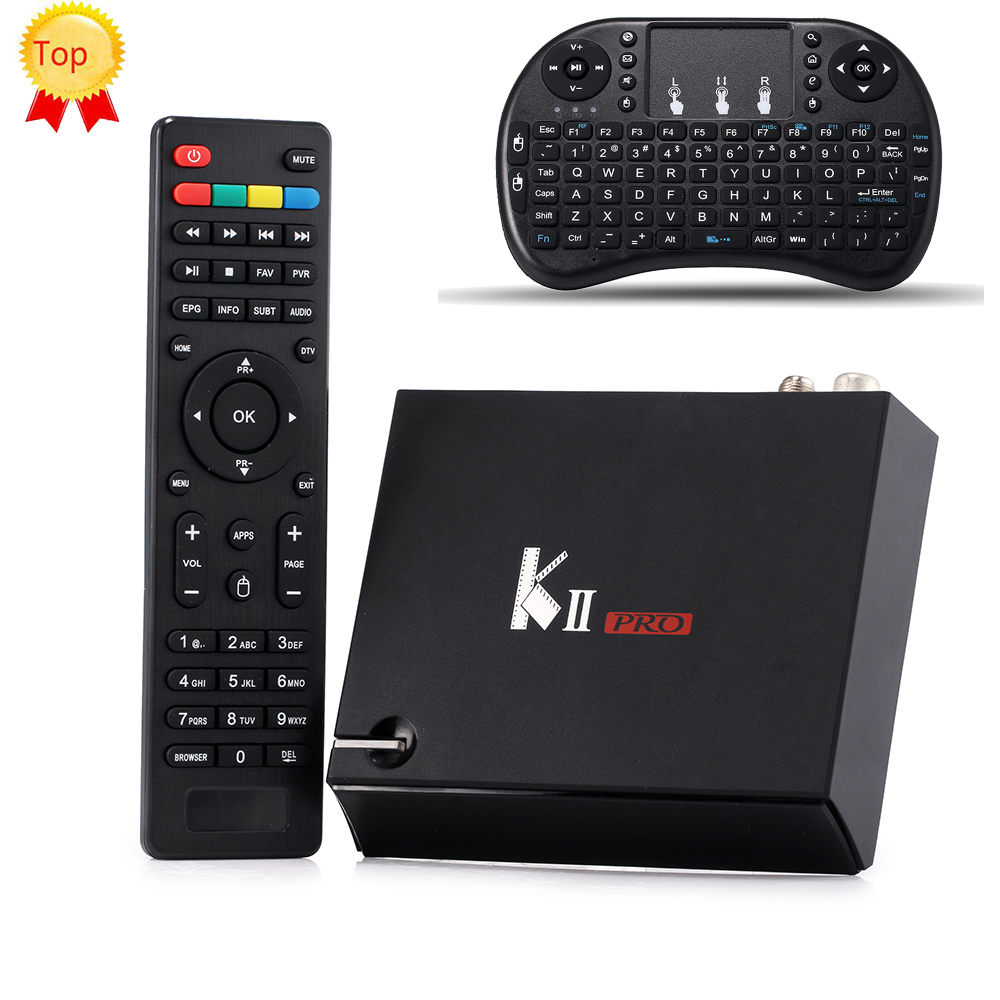 Prix pour [Véritable] KII Pro Android TV Box 2 GB + 16 GB DVB-S2 DVB-T2 Amlogic S905 Quad-core Bluetooth Smart Media Player