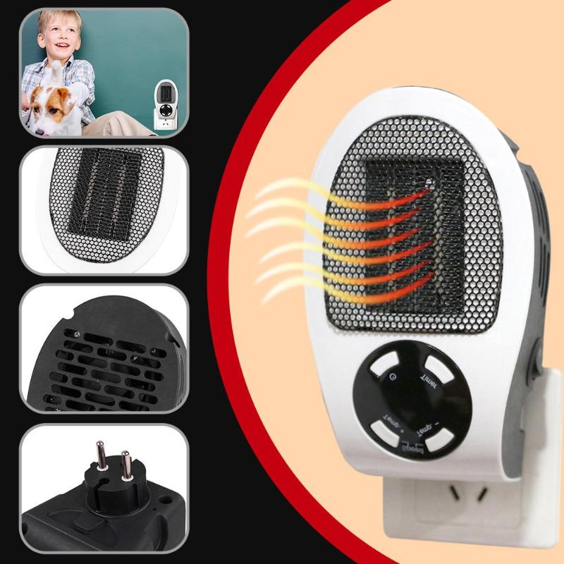 500W Electric Heater portable Handy Mini Fan Heater Desktop Household Wall Heater Stove Radiator Warmer Machine for Winter cute mini fan heater desktop household electric heater fast handy heater warm machine for winter small desktop heater