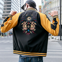 2019 spring bomber jacket Chinese style men's coat dragon embroidery street men's jacket hip hop casual street men's clothing