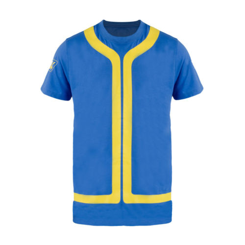 Fallout 4 T-Shirt Vault 111 Cosplay Costume T Shirt Summer Short Sleeve Game Concept Tee for Men