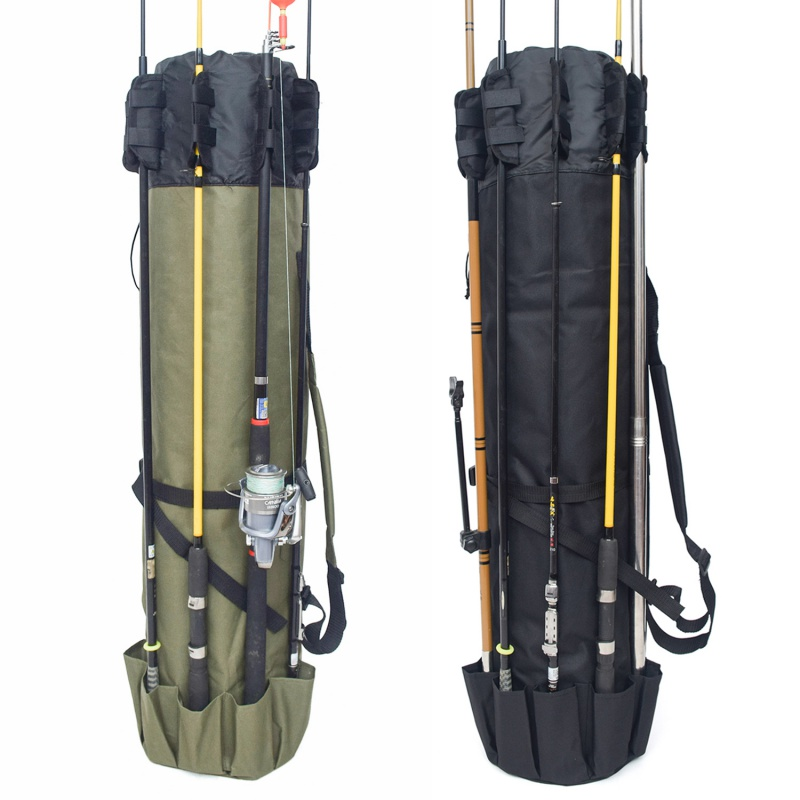 Image 4 - Fishing Portable Multifunction Nylon Fishing Bags Carrier Rod Case Fishing Tackle Tools Storage Traveling Bag-in Fishing Bags from Sports & Entertainment
