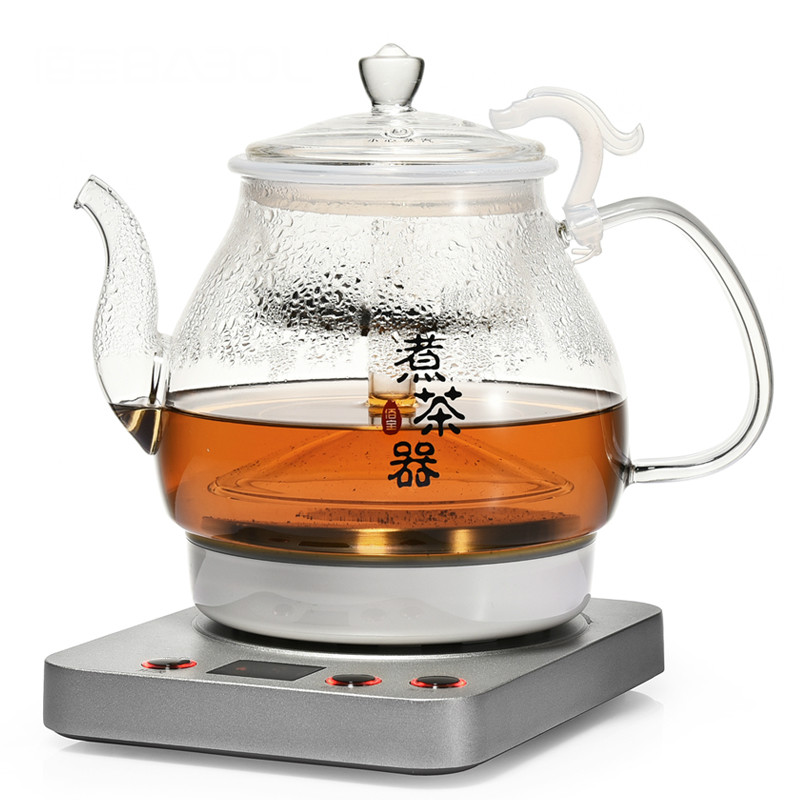 Fully automatic tea - making black steam teapot glass for household use wholesale dual dutch piece suit yixing tea tray ceramic ru ding black dragon tea