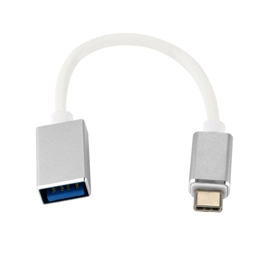 High Quality USB 3.1 Type C Male To USB 3.0 A Female OTG Data Cable Connector Adapter Silver For Samsung S8 Sep24 майка классическая printio мамочкин спиннер