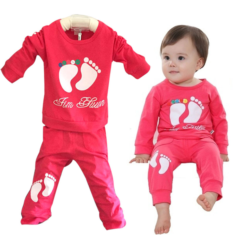 Children Boys Sports Sets Feet Girls Clothing Set Toddler Baby Boys Sweatshirts Outfits And Pants Set kids Sets YH-17