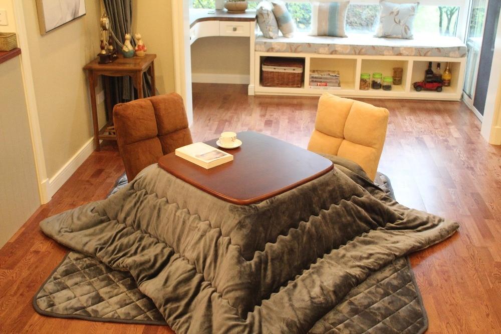 Charmant (2pcs/set) FU21 Square Kotatsu Futon Top U0026 Bottom Set Comforter For Foot  Warmer Wood Table Japanese Futon Mattressu0026Table Cover In Comforters U0026  Duvets From ...