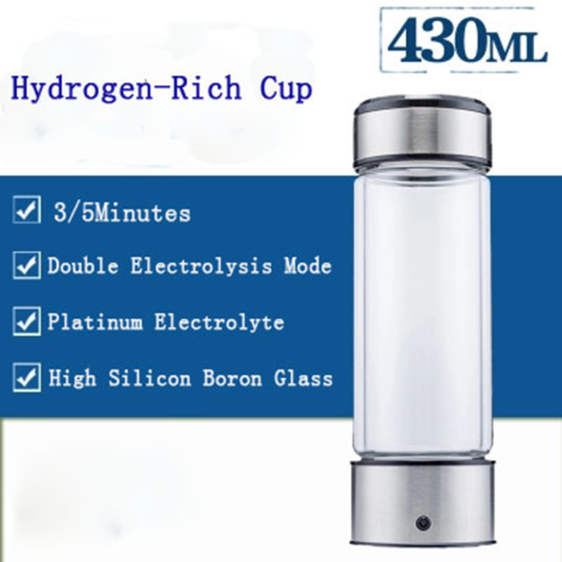 Image 2 - Hydrogen Water Generator Alkaline Maker Rechargeable Portable Water Ionizer Bottle Super Antioxidan Hydrogen Rich Water Cup-in Water Filters from Home Appliances