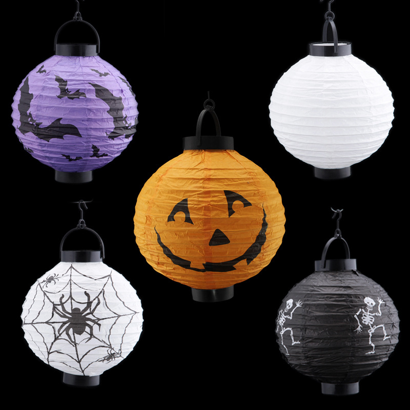 Halloween Decorations And Props Pumpkin Hanging Paper ...