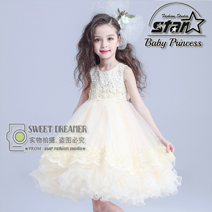 Подробнее о Kids Formal Evening Gown Flower Wedding Princess Dress Girls Children Clothing Kids Dresses for Girl Clothes Tutu Party Dress white baptism wedding kids dresses for girls clothes children clothing ball pageant formal wear party girl princess tutu dress
