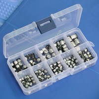 SMD 0 47 To 470uF Electrolytic Capacitors Assortment Kit 10 Values