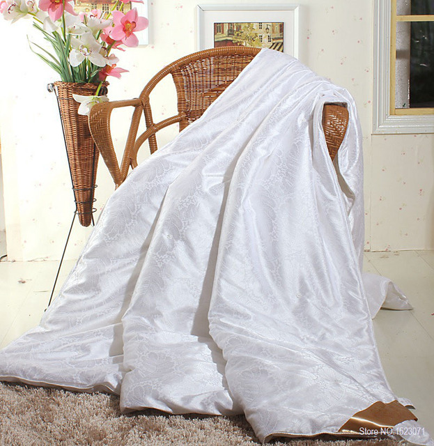 ab413197bd TUTUBIRD 100% mulberry silk comforter for winter summer king queen full  twin size white