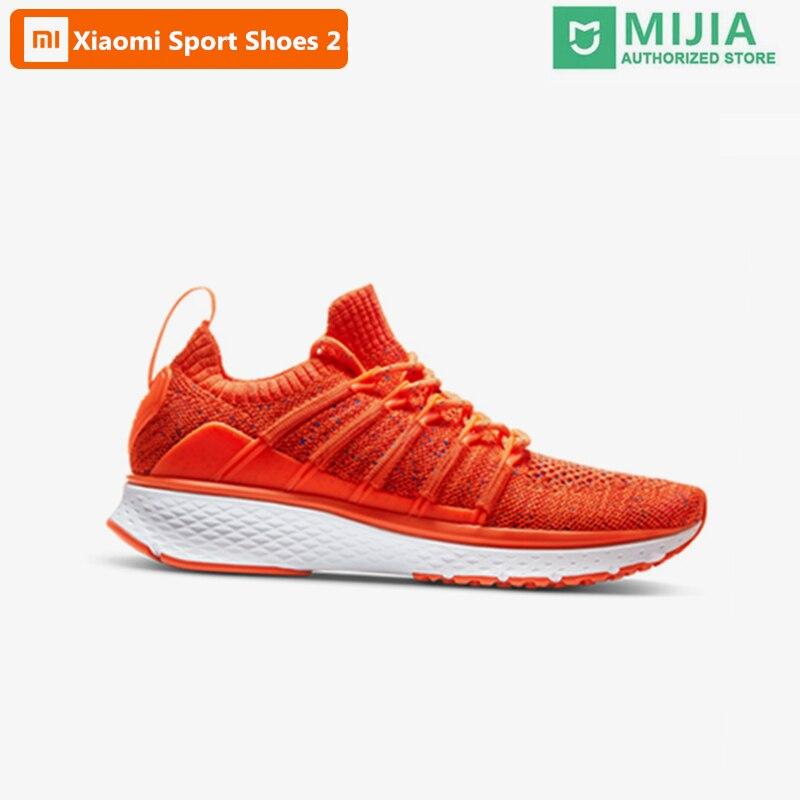 (Femmes) Xiaomi Mijia chaussures de Sport Sneaker 2 Uni-moulage Techinique nouveau système de verrouillage en os de poisson élastique tricot Vamp Sport intelligent