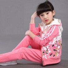 Automne Enfants Vêtements Motif Floral Manches Longues Enfants Vêtements Set Enfants Filles Manteau Pantalon de Bébé Filles Vêtements Set Coton costumes