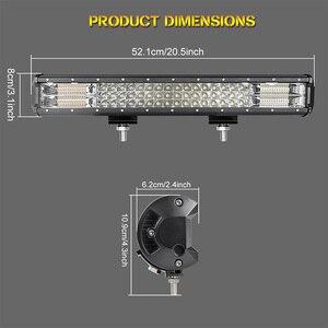 Image 5 - Projecteur combiné de travail LED 20 pouces, lampe LED tout terrain bars, faisceau bleu/rouge 12/24V, pour camions, tracteurs, UAZ ATV, SUV MPV 4x4