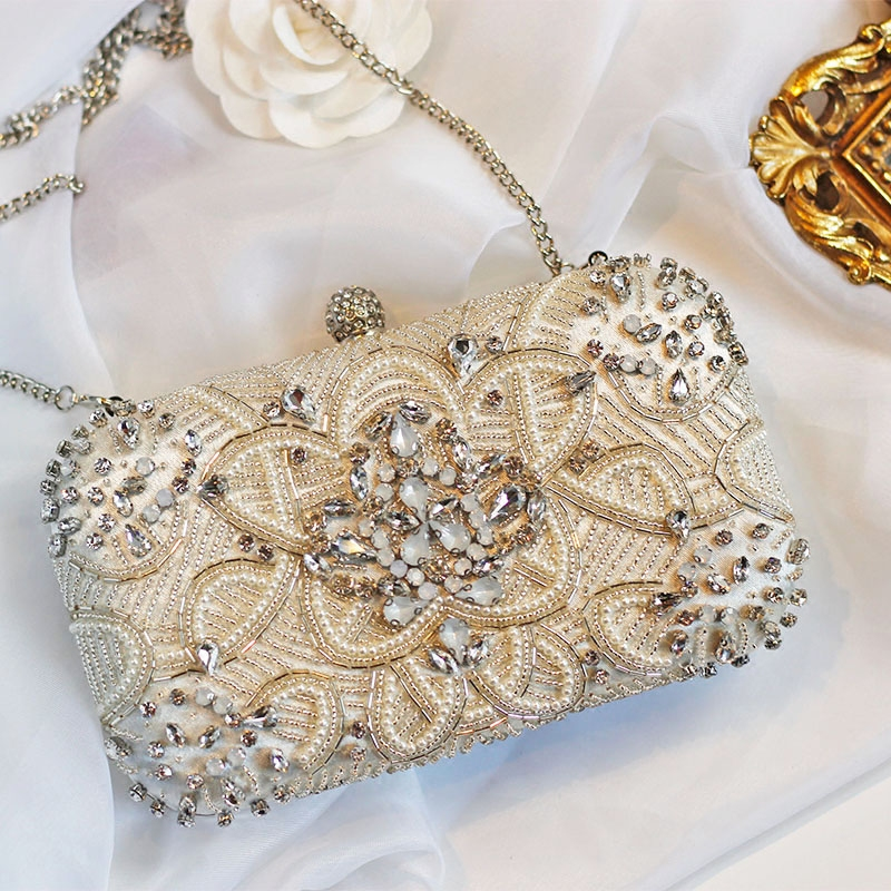25456c91dbc5 Luxury Women Evening Bags Fashion Pearl Beaded Diamond Women Evening Clutch Bag  Bridal Wedding Purse Handbag Shoulder Bag Chain-in Top-Handle Bags from ...
