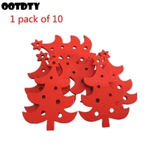 10 Pcs DIY New Christmas Tree Creative Wooden Pendant Home Decoration Gift Accessories Carved Ornaments
