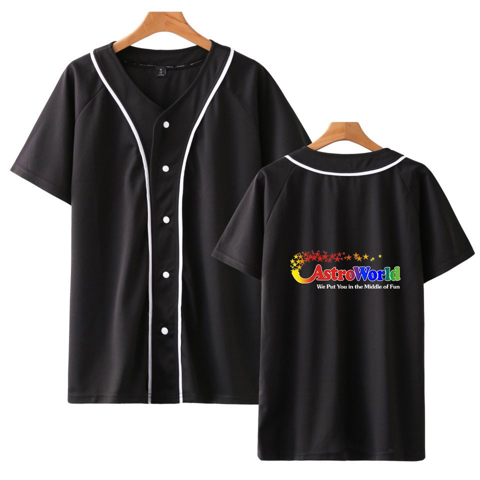 Frdum Tommy Baseball Jacke ASTROWORLD Drucken Tees Männer//Frauen Casual Sommer Frühling Frauen//Männer Mode Heißer Verkauf