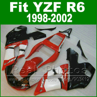 High Quaity Plastic parts for YAMAHA R6 fairing kit 98 02 red black YZF R6 fairings1998 1999 2000 2001 2002 bodywork