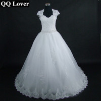 Open Back Sexy Vestido De Casamento Detachable Train Wedding Dresses Lace Wedding Gowns 2015 Robe De
