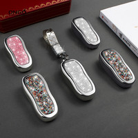 Car Key Case Cover for Porsche Cayman 911 Panamera Cayenne Boxster Macan Keyless Remote Side Shell Diamond accessories