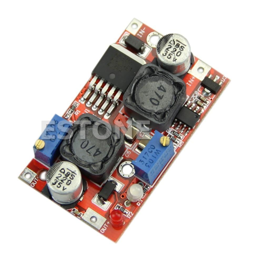OOTDTY Automatic Boost Buck Converter LM2577 4 35V to 1 25 25V CC CV Voltage Regulator