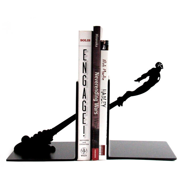 Cool Iron Man Personalized Book Stand Black Cartoon Characters Book End  Creative Iron Man Books End