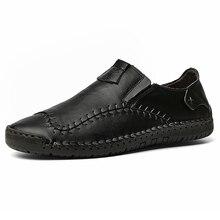 Męskie skórzane mieszkania projekt modne buty w stylu casual dla mężczyzn 2019 New Arrival mężczyźni mieszkania obuwie męskie mokasyny mokasyny