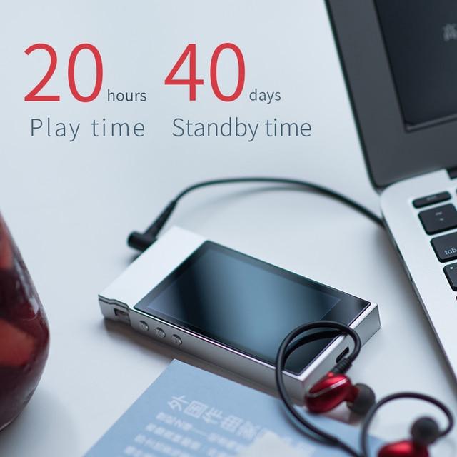 FiiO Metal Case M7 Bluetooth 4.2 aptX-HD LDAC Hi-Res Touch Screen LCD Mini Music MP3 play with FM Radio(Black/Red/Blue/Silver) 3