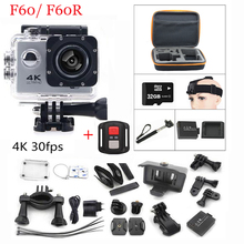 Action camera gopro F60 F60R Allwinner V3 4 K/30fps WiFi 2.0 «170D pro Casque Cam sous-marine aller étanche Sport caméra
