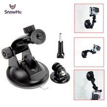 SnowHu 7ซม.กระจกดูดถ้วยสำหรับGopro Hero 9 8 7 6 5 SJCAM SJ4000 Yi 4Kอะแดปเตอร์ขาตั้งกล้องGo Proอุปกรณ์เสริมGP61
