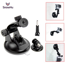 SnowHu 7CM Windshield Suction Cup Mount for Gopro Hero 7 6 5 SJCAM SJ4000 Xiaomi Yi 4K with Tripod Adapter Go Pro Accessory GP61