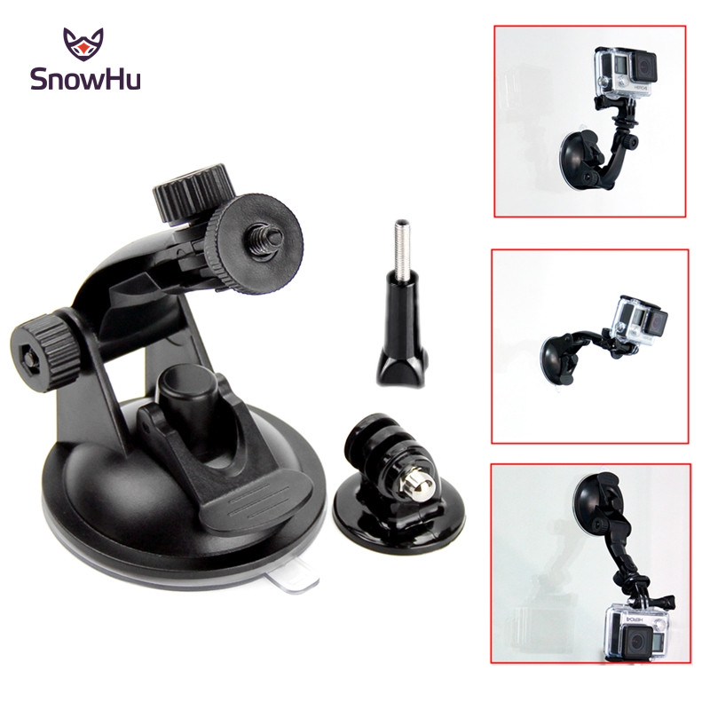 SnowHu 7CM Windshield Suction Cup Mount For Gopro Hero 8 7 6 5 SJCAM SJ4000 Xiaomi Yi 4K Tripod Adapter Go Pro Accessory GP61