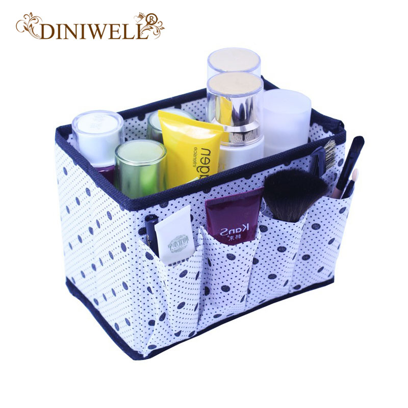 DINIWELL High Quality Folding Multifunction Make Up Storage Box Container Large capacity ...