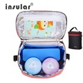 Insular Multifunction Mummy Bag Baby Thermal Bag for Stroller Multicolor Bolsa Termica 18.5*10.5*22.5 cm