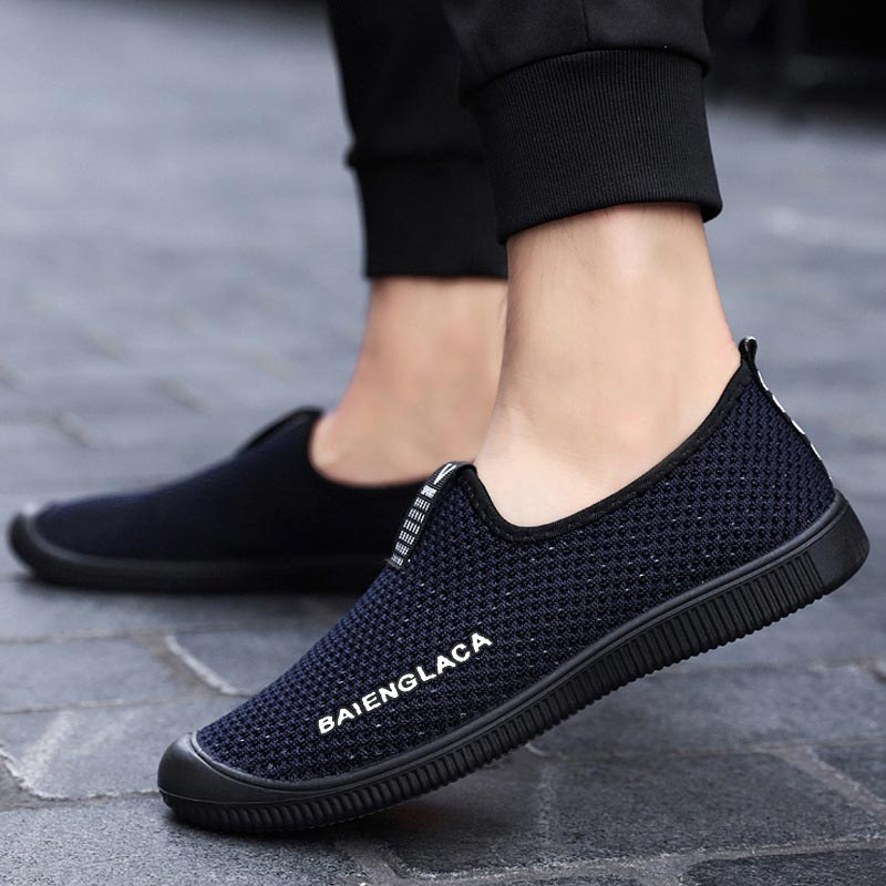 Men shoes 2019 fashion light flying woven mesh shoes men comfortable casual sneakers men solid color breathable male shoes