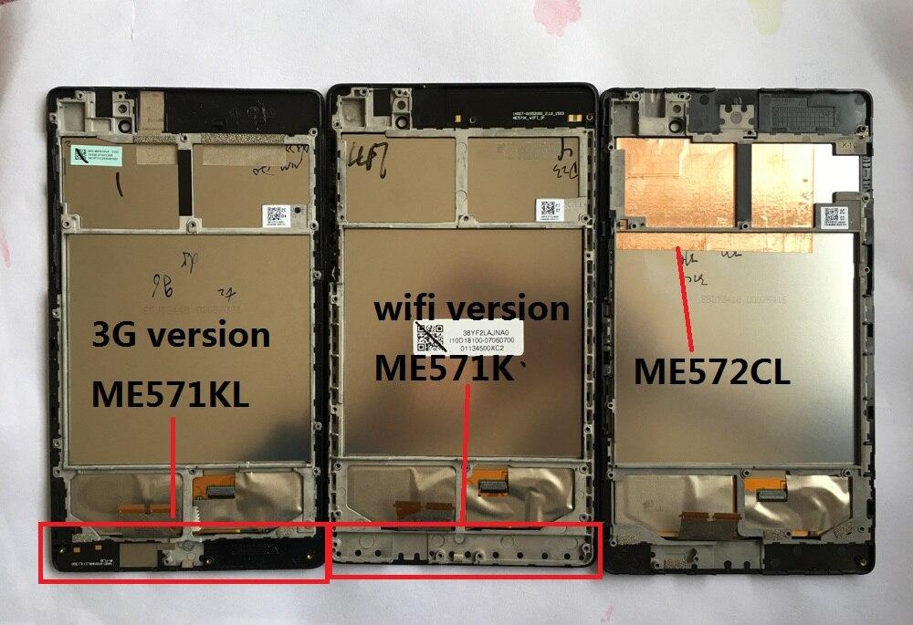 LCD Display Panel Display Touchscreen Digitizer mit rahmen Für ASUS Google Nexus 7 ME571 ME571KL 3G version ME571K ME572 ME572CL
