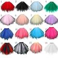 Em Estoque Multi Colorido Curto Petticoat Tulle Acessórios Do Casamento Underskirt Crinolina 2016 Venda Quente Para A Menina Barato SA941
