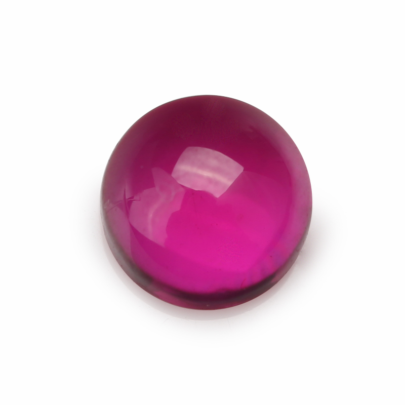 Size 3 10mm 5 Red Round Shape Cabochon Synthetic Corundum Stone in Beads from Jewelry Accessories