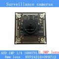 "AHD 1000TVL surveillance cameras Module night vision 1.3MP 6mm pinhole lens 1MP Coaxial 1/4 ""CMOS NVP2431H + AR9712 chip Camera"