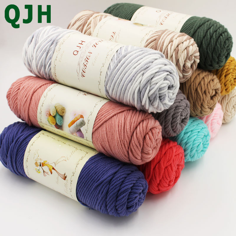 Hot Sale 500g Natural Milk Silk Soft Thick Yarn 5pcs Lovers Cotton thread for Knit scarf line&DIY knitting baby wool weave yarn