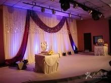 Superdeal 3m*6m white-purple elegance wedding backdrops , stage backdrops
