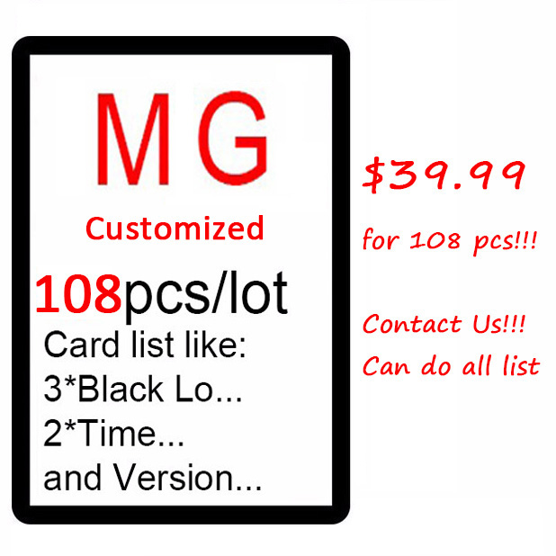 Customized 108pcs Magical Proxy MG Card, Dual Lands, P9, The Lion Recommend Board Game