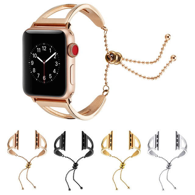 6679d5ab200 Fashion Stainless Steel Watch Bracelet for Apple Watch Band Women Girl Replacement  Strap for iWatch Series 1/2/3 38mm 42mm Belt