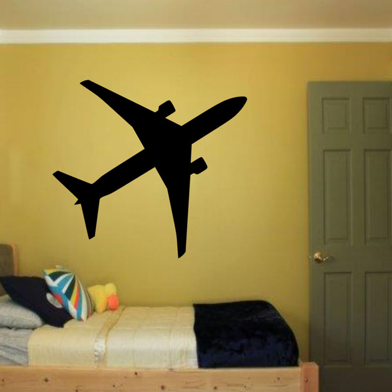 Airplane Wall Decals Kids Bedroom Vinyl Adhesive Stickers Home Decor Aircraft Silhouette Wall Stickers Nursery